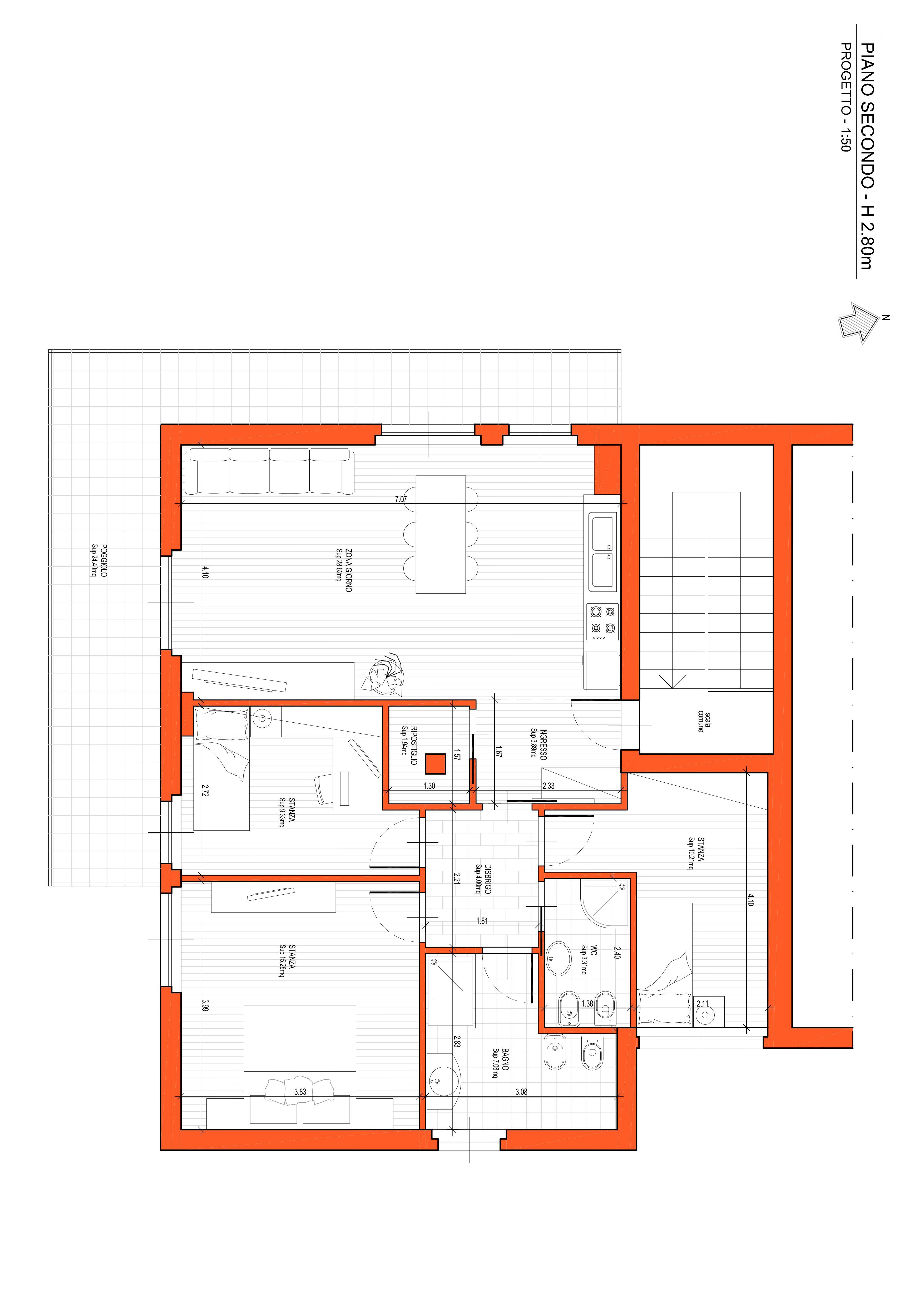 Tre stanze ristrutturato a nuovo a Mattarello