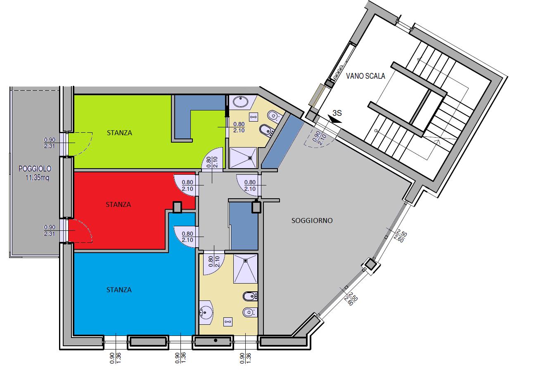 La casa dei tuoi sogni - 3 stanze 2 bagni ampio soggiorno